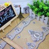 刺繍の工場在庫の卸売20cmの幅の刺繍の二色の糸の衣服及びホーム織物(BS1079)のためのナイロン純レースポリエステルトリミングの空想の網のレース