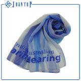 OEM特大スクリーンの印刷のマルチ青く軽くて柔らかい絹のスカーフ