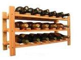 4-18 Capacité de bouteille Rangement de vin Rack étagères Bois massif