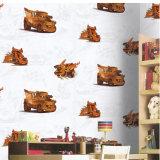 A caixa colorida 3D do projeto bonito caçoa o papel de parede para o quarto dos miúdos