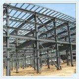 Große Überspannungs-Stahlkonstruktion, die preiswerte Stahlwerkstatt aufbaut