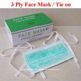 Одноразовые 3-слойные нетканого материала хирургических маску для лица с реактивной тяги на