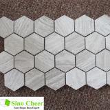 De Tegel van Fooring van het mozaïek/Hexagon Tegel van het Mozaïek/de Houten Tegel van het Mozaïek van de Korrel Grijze