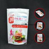 La poche comique 3 couches a feuilleté le sachet en plastique droit pour le module de nourriture avec le sachet en plastique comique de tirette