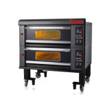 De lujo de 2 Cubierta 4 bandejas Máquina Comercial Horno eléctrico de la panadería de la hornada