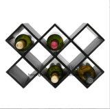 La cremagliera Premium del vino dell'unità di elaborazione con le bottiglie uniche di disegno 8 riveste di pelle la cremagliera del vino