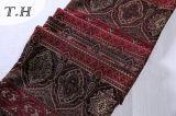 2016 tela vermelha e de Brown do anel da curvatura para o pano do sofá (FTH31900)