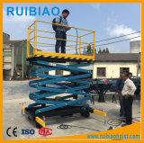 Elevación hidráulica de alta seguridad de la plataforma de trabajo para recoger