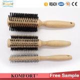 Fsc Wood Boar Bristle Detangling Hair Brushes Wholesale (JMFH-122)