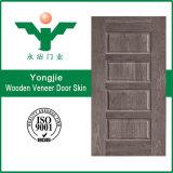 Piel moldeada chapa de madera de la puerta de HDF