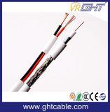 (Syv-75-3+2c Rg59+2c) Samengestelde Siamese Coaxiale Kabel voor Setellite/Camera Monitor/CCTV