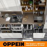 360cmの幅の白いThermofoilの終わりの標準食器棚(OP17-PP02)