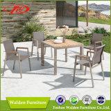 Патио Мебель 5 Кусок садовая мебель, с алюминиевыми стулья и стол из дерева