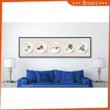 Peinture à l'huile abstraite de toile de bâti d'horizontal pour la tenture à la maison de décoration
