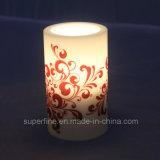 Candela bianca calda a pile senza fiamma di colore LED di Halloween per la decorazione