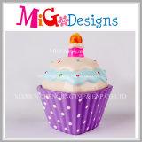 Cabine téléphonique en céramique de modèle fait sur commande de gâteau avec la Main-Impression