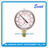 Vakuumc$manometer-gas Druck-Abmessen-Rostfreies Stahlmanometer
