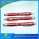 Penna su ordinazione di tocco di marchio di stampa di prezzi di fabbrica per il regalo di promozione (XF-PM02)