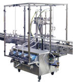 Машина для прикрепления этикеток машины завалки пищевого масла автоматической нержавеющей стали еды санитарной линейная