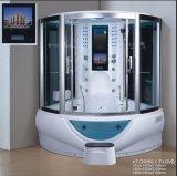 Sauna de vapor de 1500 mm con jacuzzi y Tvdvd (AT-G9050-1TVDVD)