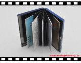 새로운 디자인 파란 색깔 알루미늄 카드 홀더, 싼 명함 홀더