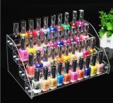 Étalage acrylique d'organisateur de crémaillère de Tableau de vernis à ongles (supporter dans 70 bouteilles)