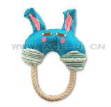 ペット製品白いロープ犬のおもちゃの青いRabitの歯科おもちゃ