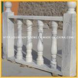 White Stone escultura de mármol Pilar / columna para la decoración del hogar