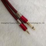 штепсельная вилка 6.35mm Mono к 3.5 стерео кабелю штепсельной вилки Metal/AV