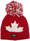 Шлем зимы Канады листьев жаккарда Toque поистине севера взрослый с POM POM