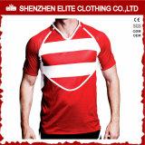 Long rugby Jersey (ELTRJJ-134) de coton de chemise de qualité adulte neuve de modèle