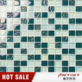 Mattonelle di mosaico di vetro normali blu per la toilette della stanza da bagno del raggruppamento