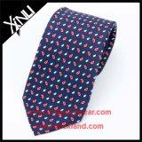 Pantalla del 100% hecho a mano de seda impreso corbata de 7 veces