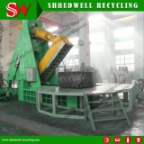 Leistungsfähige hydraulische überschüssige Gummireifen-Scherblock-Maschine, welche die Überformatreifen des schrott-Mine/OTR aufbereitet