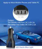 Excellent chargeur fait sur commande élégant chaud de véhicule des ports USB du logo 3 de nouveaux produits
