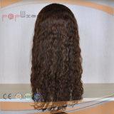 Парики шнурка черных человеческих волос способа типа цвета волнистых горячих длинних полные