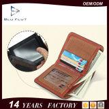 Form-Weinlese-Leder RFID, das Mappe blockt
