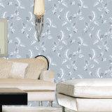 Fleur de gros prix d'usine flocage de luxe design Wallpaper