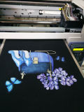 Cama plana Máquina impresión textil, A3 camiseta Máquina de impresión en línea