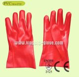 Roter Belüftung-industrielle Arbeits-Handschuh mit Cer-Bescheinigung (Kurbelgehäuse-Belüftung Glove-27cm)