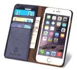 Случай мобильного телефона TPU бумажника кожаный с владельца карточки в случай iPhone 8 кожаный