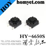 6*6*5mm 2pin tact switch SMD impermeable para la máquina (HY-6601)