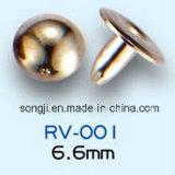 의복 부속품을%s 공장에 의하여 주문을 받아서 만들어지는 다른 크기 둥근 금속 리베트