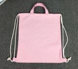 Backpack Drawstring холстины хлопка с ручками и толщиной планкой PP