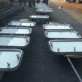 Ventana rectangular de acero marino para barco