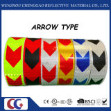 Seta de PVC Self-Adhesive proeminência de alerta para os reboques de fita refletiva (C3500-AW)