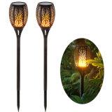 Illuminazione solare di via del prato inglese dell'iarda del giardino della parete dell'indicatore luminoso della fiamma della torcia della lampada del LED