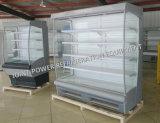 Construido en refrigerador refrigerado vertical de la visualización del compresor