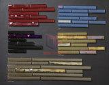 Dispositivo di piegatura di cristallo Iridescent delle mattonelle di mosaico del nastro del mosaico di Connfly