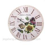 Relógio de parede de madeira de 30 cm e relógio de parede de impressão